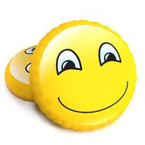 Pernă cu formă 3D, smiley vesel, 40 cm