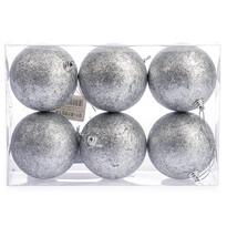 Bombki 6 szt. srebrny