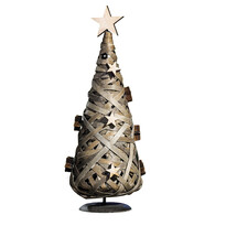 Prútený vianočný stromček hnedá