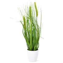Umelá kvitnúca tráva Ines zelená, 36 cm