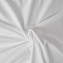 Cearșaful de pat din satin, alb, 90 x 200 cm