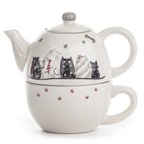 Zestaw ceramiczny do herbaty Kotki