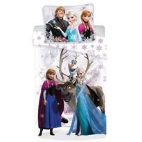 Lenjerie de pat pentru copii Regatul de Gheaţă Frozen white snow micro, 140 x 200 cm, 70 x 90 cm