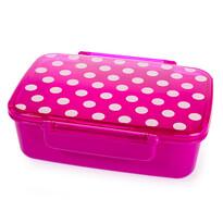 Svačinový box s víkem Dot, růžová