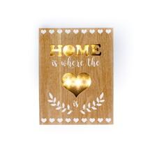 Home is where felakasztható világító dísz, barna