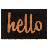 Kokosová rohožka Hello černá, 40 x 60 cm