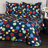 Lenjerie pat 1 pers. Bubble, creponată, 140 x 200 cm, 70 x 90 cm