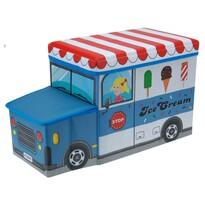 Pudełko do siedzenia na zabawki Samochód lodziarz