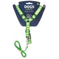 Vodítko pre psa s popruhmi, zelená