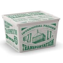 KIS Dekorační úložný box C-Box Wood Cube, 27 l