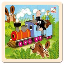 Bino Kisvakond és a mozdony kirakós játék