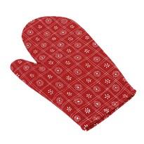 Mănuși de bucătărie pătrat roșu, 28 x 18 cm