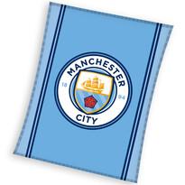 Detská fleecová deka Manchester City, 110 x 140 cm