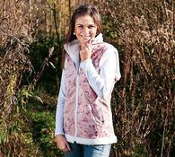 Dámská vesta  XL růžová