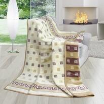 Pătură Karmela Plus, Spirală în dungi, 150 x 200 cm