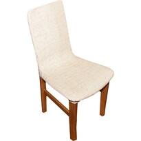 Luxusný poťah Andrea na stoličku béžová, sada 2 ks