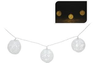 Světelný LED řetěz krajkové kouličky