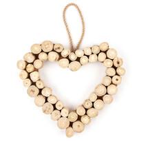 Závesná dekorácia Drevené srdce Ouvert, 30 cm