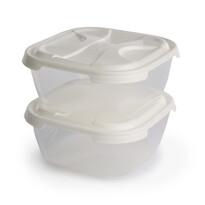 Tontarelli Sada plastových dóz na potraviny Nuvola 1 l, 2 ks