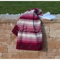 Matějovský bavlněná deka Summer vínová, 160 x 220 cm