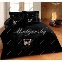 Matějovský bavlnené obliečky Black panter, 140 x 200 cm, 70 x 90 cm