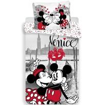 Dziecięca pościel bawełniana Mickey and Minnie in Venice, 140 x 200 cm, 70 x 90 cm