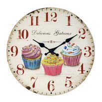 Ceas de perete Cupcake, diam. 34 cm