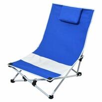 Cattara Plażowy leżak składany Larisa, niebieski