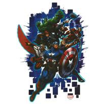 Samolepiaca dekorácia Avengers, 48 x 29 cm