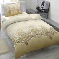 Saténové obliečky Scallop Dusty Yellow, 140 x 200 cm, 70 x 90 cm