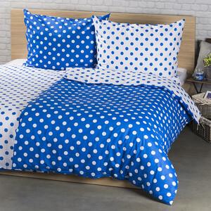 4Home Bavlněné povlečení  Modrý puntík , 140 x 200 cm, 70 x 90 cm
