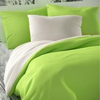 Saténové obliečky Luxury Collection biela/sv. zele