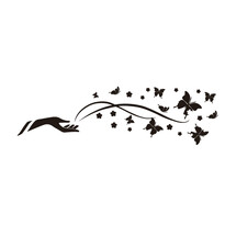 Samolepiaca dekorácia motýľ na dlani