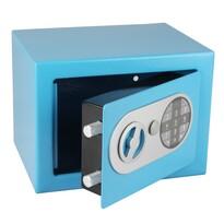 Stalowy sejf z zamkiem elektronicznym, niebieski