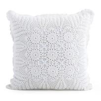Pernă tricotată Gita albă, 40 x 40