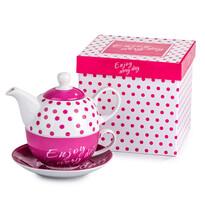 3dílná čajová souprava Enjoy Rose