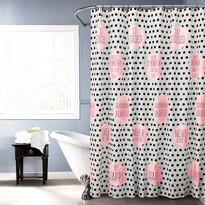 Sprchový závěs Jesika růžová, 180 x 180 cm