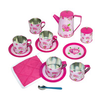 Bino Dětský čajový set růžová