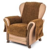 4Home Narzuta na fotel z kieszeniami ciemny brąz, 65 x 150 cm, 2 szt. 40 x 80 cm