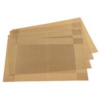 Podkładki na stół Harmonie złoty, 30 x 45 cm, zestaw 4 szt.