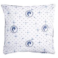 Poszewka na poduszkę Country kropka niebieski, 40 x 40 cm