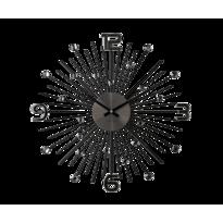 Nástenné hodiny Lavvu Crystal Sun čierna, pr. 49 cm