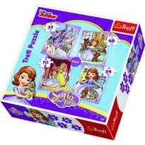 Trefl Puzzle Princezná Sofia Prvá, 4 ks