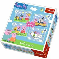 Trefl Puzzle Prasátko Peppa, 4 ks