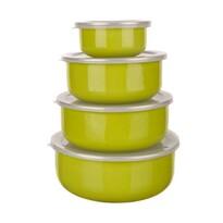 8-częściowy zestaw misek emaliowanych Belly, zielony