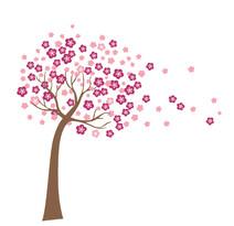 Naklejka dekoracyjna Kwitnące drzewo