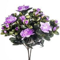 Umělá květina azalka fialová