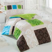 Sedef pamut ágyneműhuzat zöld, 140 x 200 cm, 70 x 90 cm