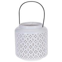 Suport lumânare, ceramică Pătrățele, 18,5 cm