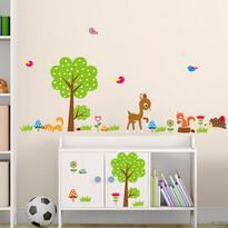 Naklejka dekoracyjna Las zwierzątka